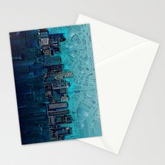 boston city skyline Stationery Cards