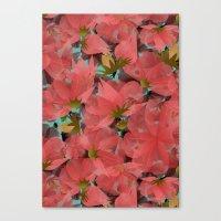 Translucent Floral Canvas Print