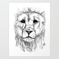 Gesture Lion Art Print