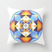 Solar Kaleidoscope (ANAL… Throw Pillow