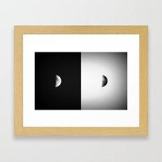 Waxing Crescent II  Framed Art Print