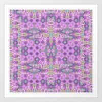 Tapestry In Lavender Art Print