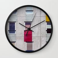 eastern european apartments in colour Wall Clock