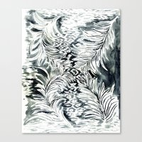 Watercolor_Feather Canvas Print