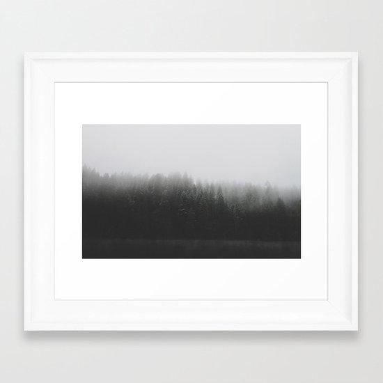Frosted Trees Lake Framed Art Print