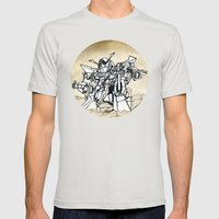 Transformer Mens Fitted Tee Silver SMALL