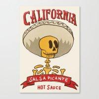 California Hot Sauce Canvas Print