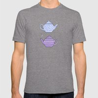 Patterned Teapots Mens Fitted Tee Tri-Grey SMALL