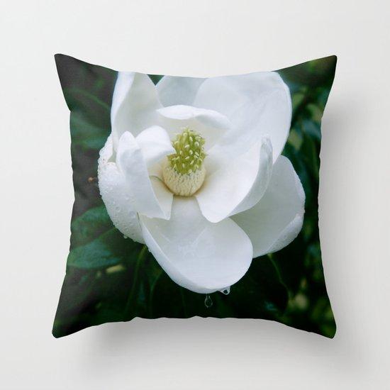 Magnolia Flower Throw Pillow