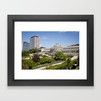 Brussels botanical garden Framed Art Print