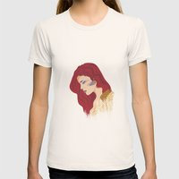 Glam Red Rock Womens Fitted Tee Natural SMALL