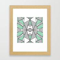 Triangle Tribal Mint Framed Art Print