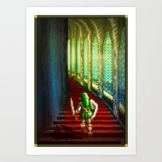 Pixel Art series 18 : Before the fight Art Print