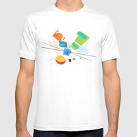 Rocko's Modern Art Mens Fitted Tee White SMALL
