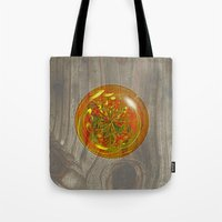 Berry Bubble on wood Tote Bag