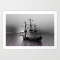 Sailing Along The Cold S… Art Print