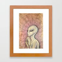 Alien Prayer Framed Art Print
