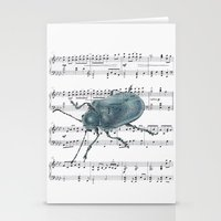 Music Beetle Stationery Cards