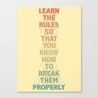 Life Lesson #5 Canvas Print
