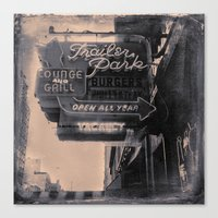 Trailer Park Lounge Canvas Print