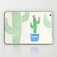 Linocut Cacti #2 in a pot Laptop & iPad Skin