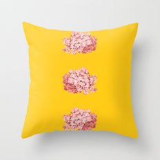tridrangea Throw Pillow
