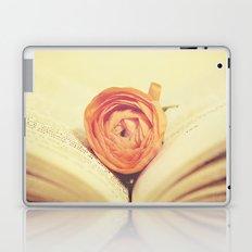 {Old Book and Ranunculus} Laptop & iPad Skin