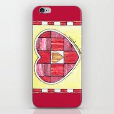 Pinstripe Heart iPhone & iPod Skin