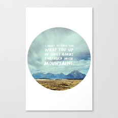 Mountains for Andrew Canvas Print