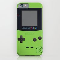 iPhone Cases featuring GAMEBOY Color - Green by Cedric S Touati