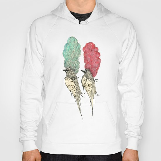 Bouffant Birds Hoody