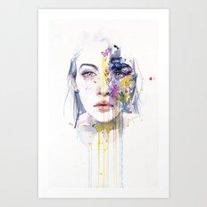 miss bow tie Art Print
