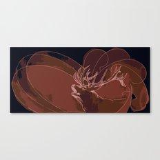Howling Deer Canvas Print
