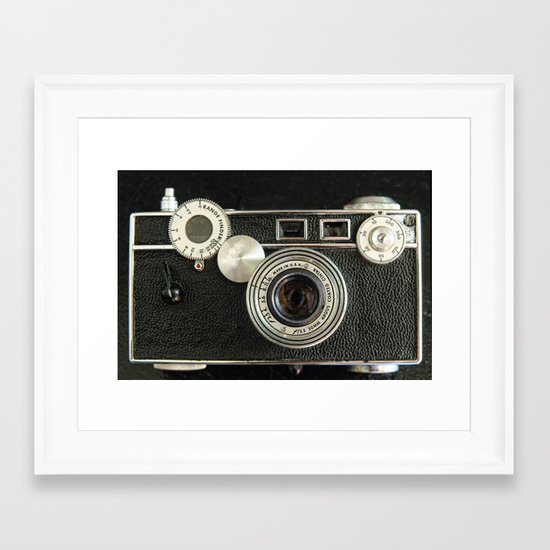 Vintage Range finder camera. Framed Art Print