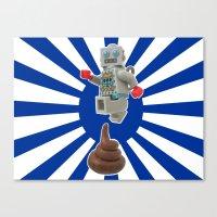 Poo jumping Canvas Print