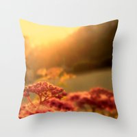Pink bulb in the Sunrise Throw Pillow