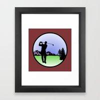 Golfer Framed Art Print