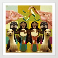 Animal Beat Art Print