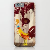 iPhone & iPod Case featuring the rooster still bites by eduardo vargas
