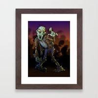 ZOMBIE! Framed Art Print
