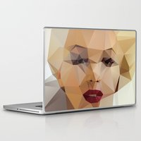 portrait Laptop & iPad Skins featuring Monroe. by David