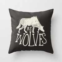 As Wolves Throw Pillow