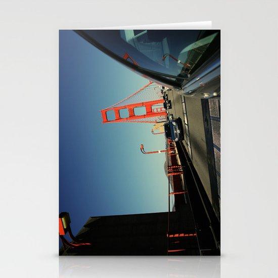 Golden Gate Bridge; Mid-Crossing. Stationery Card