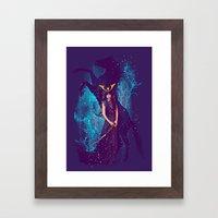 THE DARKEST HORSE Framed Art Print
