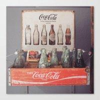 Vintage Coca Cola Bottle… Canvas Print