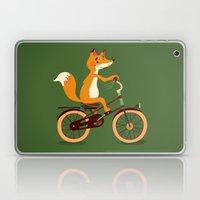 Little fox on the bike Laptop & iPad Skin