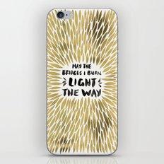 Bridges Burned – Gold iPhone & iPod Skin
