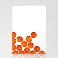 Crystal Balls Orange Stationery Cards