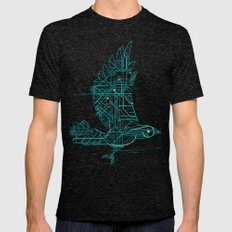 Wind-Up Bird Mens Fitted Tee Tri-Black SMALL