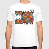 Dog hippo Mens Fitted Tee White SMALL